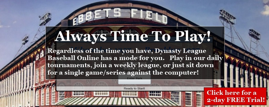 Dynasty League Fanstay Baseball